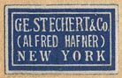 G.E. Stechert & Co. (Alfred Hafner), New York (22mm x 13mm), ca.1936