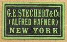 G.E. Stechert & Co. (Alfred Hafner), New York (22mm x 13mm, ca.1916)