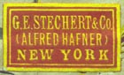 G.E. Stechert & Co. (Alfred Hafner), New York  (22mm x 13mm)