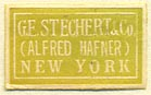 G.E. Stechert & Co. (Alfred Hafner), New York, NY  (22mm x 13mm)