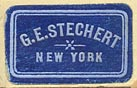 G.E. Stechert, New York (blue/sky, 21mm x 13mm, ca.1925)