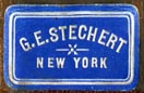 G.E. Stechert, New York (blue/white, 21mm x 14mm, ca.1917)