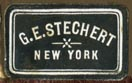 G.E. Stechert, New York (black/white, 21mm x 13mm, ca.1917)