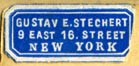 Gustav E. Stechert, New York (17mm x 10mm, after 1876)