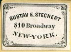 Gustav E. Stechert, New York (23mm x 17mm, after 1893)
