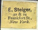 E. Steiger, New York (19mm x 15mm). Courtesy of Robert Behra.