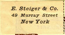 E. Steiger & Co., New York (37mm x 20mm). Courtesy of Robert Behra.