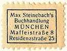 Max Steinebach, Buchhandlung, Munich, Germany (21mm x 15mm). Courtesy of S. Loreck.