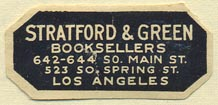 Stratford & Green, Booksellers, Los Angeles, California (35mm x 16mm). Courtesy of Donald Francis.