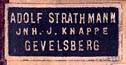 Adolf Strathmann/Jhn.J.Knappe, Gevelsberg, Germany (20mm x 9mm, before 1928).