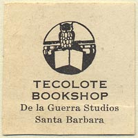 Tecolote Bookshop, Santa Barbara, California (32mm x 32mm)