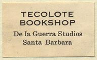 Tecolote Bookshop, Santa Barbara, California (30mm x 18mm). Courtesy of Donald Francis.
