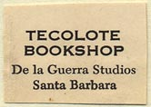 Tecolote Bookshop, Santa Barbara, California (27mm x 18mm). Courtesy of Donald Francis.