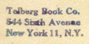 Telberg Book Co., New York (25mm x 10mm, after 1953). Courtesy of Robert Behra.