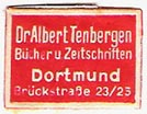 Dr. Albert Tenbergen, Bucher u. Zeitschriften, Dortmund, Germany (approx 21mm x 16mm, ca.1940). Courtesy of Michael Kunze.