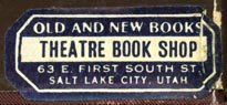 Theatre Book Shop, Salt Lake City, Utah (34mm x 14mm). Courtesy of Robert Behra.