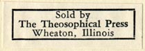 The Theosophical Press, Wheaton, Illinois (34mm x 11mm, ca.1951). Courtesy of Robert Behra.
