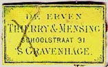 Thierry & Mensing, 's-Gravenhage [The Hague], Netherlands (25mm x 15mm, ca.1865?). Courtesy of Michael Kunze.