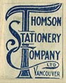 Thomson Stationery Company, Vancouver (14mm x 18mm).