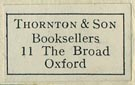 Thornton & Son, Booksellers, Oxford (22mm x 13mm).