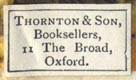 Thornton & Son, Oxford (22mm x 13mm)