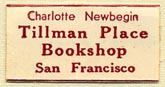 Charlotte Newbegin, Tillman Place Bookshop, San Francisco, California (26mm x 13mm). Courtesy of Donald Francis.