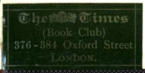 The Times Book Club, London, England (34mm x 16mm). Courtesy of Robert Behra.