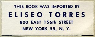 Eliseo Torres, New York (51mm x 19mm)