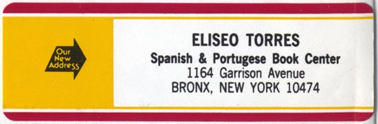 Eliseo Torres, New York (89mm x 29mm, ca. 1980). Courtesy of Robert Behra.