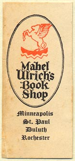 Mabel Ulrich's Book Shop, Minneapolis, etc., Minnesota (24mm x 55mm)