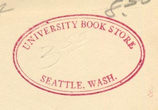 University Book Store, Seattle, Washington (43mm x 27mm, ca.1950)