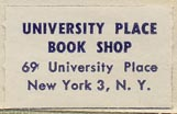 University Place Book Shop, New York, New York (25mm x 15mm, ca.1959).