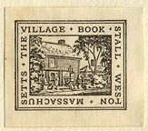 The Village Book Stall, Weston, Mass. (26mm x 22mm). Courtesy of Sarah Faragher.