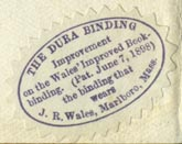 J.R. Wales [Bookbinder], Marlboro, Massachusetts (26mm x 18mm)