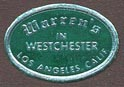Warren's in Westchester, Los Angeles, California (19mm x 13mm). Courtesy of Donald Francis.