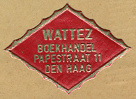 Wattez, Boekhandel, The Hague, Netherlands (ca.1929).