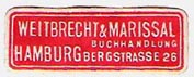 Weitbrecht & Marissal, Buchhandlung, Hamburg, Germany. Courtesy of Michael Kunze.