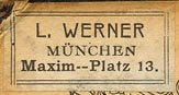 L. Werner, Munich, Germany (26mm x 14mm, ca.1907)