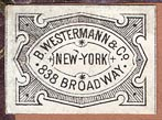 B. Westermann & Co., New York, NY (23mm x 17mm).