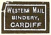 Western Mail Bindery, Cardiff, Wales (17mm x 11mm). Courtesy of S. Loreck.