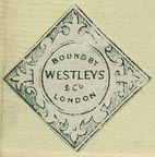 Westleys & Co. [binders], London, England (23mm x 23mm, ca.1865).
