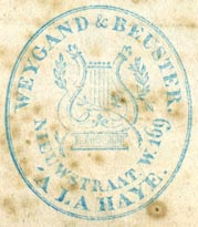 Weygand & Beuster, The Hague, Netherlands (inkstamp, 29mm x 33mm). Courtesy of Robert Behra.