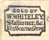 W. Whiteley, Stationer, Westbourne Grove [London, England] (14mm x 12mm, ca.1888?). Courtesy of Robert Behra.