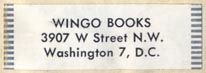 Wingo Books, Washington, DC (33mm x 13mm). Courtesy of Robert Behra.