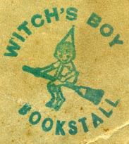Witch's Boy Bookstall, [?] (29mm dia.). Courtesy of Robert Behra.