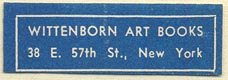 Wittenborn Art Books, New York, NY (37mm x 12mm). Courtesy of Donald Francis.