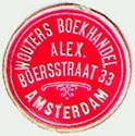 Wouters Boekhandel, Amsterdam, Netherlands (20mm dia., ca.1930). Courtesy of Michael Kunze.