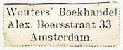 Wouters Boekhandel, Amsterdam, Netherlands (28mm x 11mm, ca.1898). Courtesy of Michael Kunze.