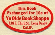 Ye Olde Book Shoppe, Long Beach, California (29mm x 18mm). Courtesy of Donald Francis.
