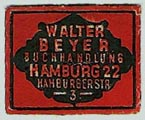 Walter Beyer, Hamburg, Germany (24mm x 20mm, ca.1925). Courtesy of Michael Kunze.